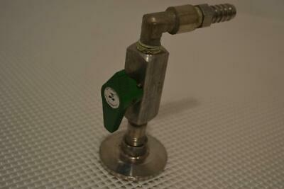 "One Used Swagelok Quarter Turn Instrument Plug Valve 1/4"" Female Iso, Ss-4P4T4."