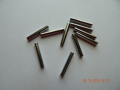 "STAINLESS STEEL ROLL PINS 3/16 x 1 1/4"" 10 PCS. 18-8 NEW"