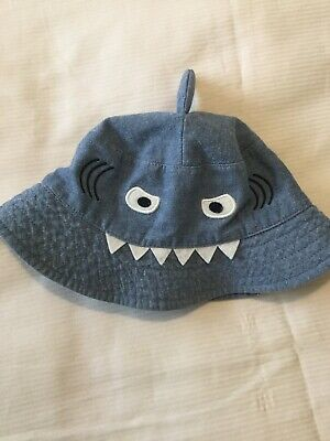Joules Boys Blue Shark Sun Hat 1-2 Years