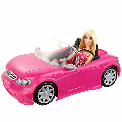 Barbie Glam Convertible Mattel Car Doll Vehicle Funny Toy Seats Pink 3 Years +