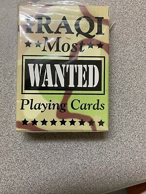 Authentic Iraqi Most Wanted Playing Cards Bicycle Hoyle Brand New-With Wrap Brok