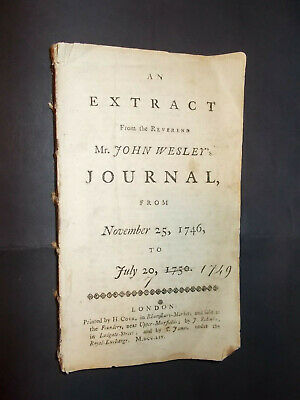 John Wesley-1754-Journal Extract from 1746-50-RARE-Pamphlet-Complete-London-