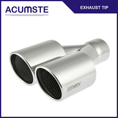 """Yonaka 3.5/"""" Pair Stainless Steel 15 Degree Angled Cut Rolled Exhaust Tips"""