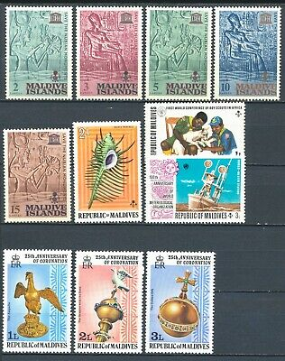 Maldives stamp collection, 10 stamps