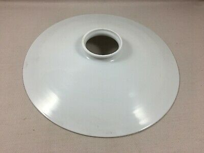 """Antique french opaline glass lampshade white milk  9.6"""" lamp"""