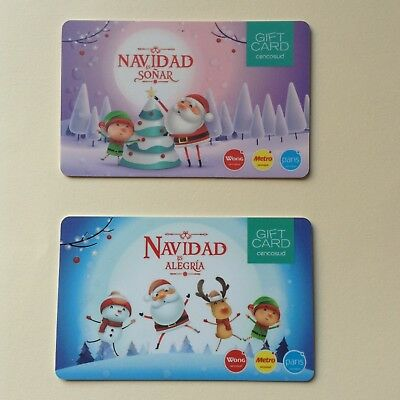 ✔️ PERU : 02 Diff. Christmas Gift Cards - Edition  2018