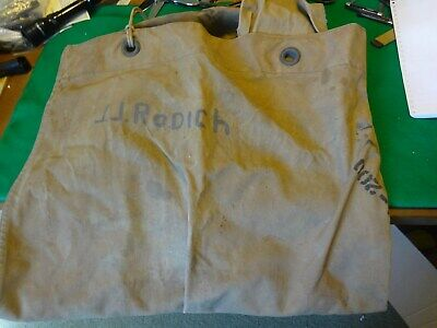 Vintage US Military Issue WW2 DUVA -209 Canvas sea bag named possibly Marine's