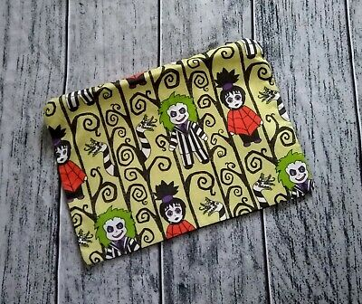 Gothy Toons Poly Mesh Zipper Pouch Cosmetic Makeup Bag Beetlejuice
