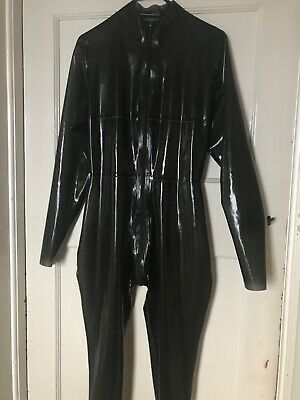 Translucent Black Westward Bound Aphrodite Latex Rubber Catsuit (M)
