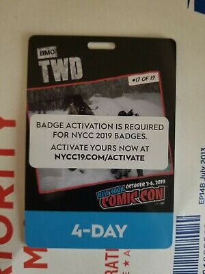 New York Comic Con Nycc 2019 4-Day Pass Adult *Free Shipping*