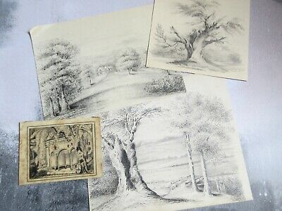 Collection of 4 x 1860s Sketches & Letters