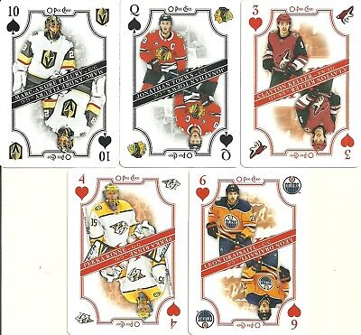 2019-20 Opc O-Pee-Chee Playing Cards 10-Spades Golden Knights Marc-Andre Fleury