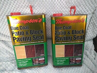 Thompson One Coat Patio block Paving Seal 5ltr X 2 cans