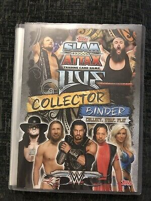 Topps Slam Attax Live 2018, 374 Cards And Binder, No Doubles, WWE Set Bundle