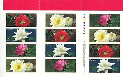 """Canada, 2001, """"Canadian Roses"""" Booklet With 12 Stamps. Mint Nh Fresh Condition"""