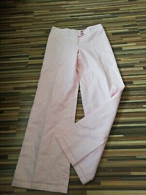 Girls Next 12 Years 152Cm W28 L28 Adult Size 6 - 8 Pink Linen Mix Trousers