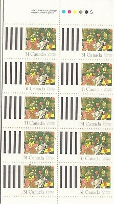 """Canada,1987, """"Christmas - 31C"""" Booklet With 10 Stamps. Mint Nh Fresh Condition"""
