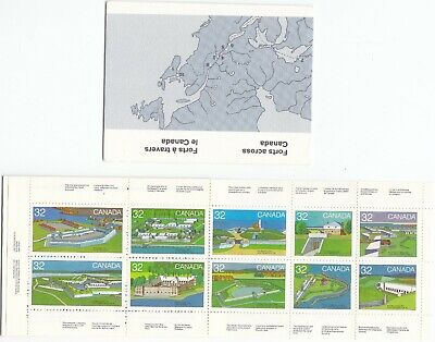 """Canada,1983, """"Forts Across Canada"""" Booklet Of 10 Stamps. Mint Nh Fresh Condition"""