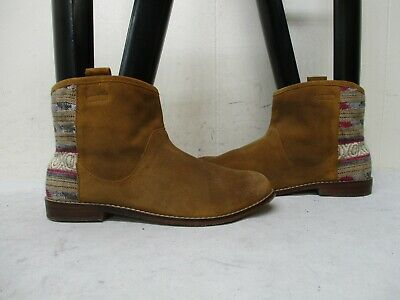 ZARA GIRLS Brown Suede Leather Ankle Boots Womens Size 35 EUR