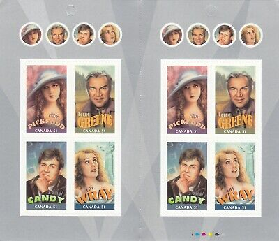 """Canada, 2006, """"Canadians In Hollywood - 51C"""" Booklet Of 8 Stamps Mint Nh Fresh"""