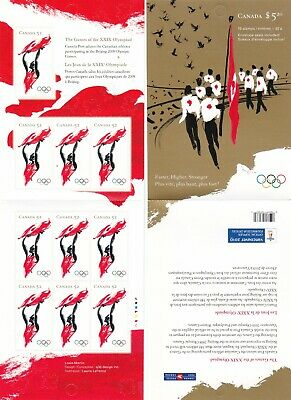 """Canada, 2008,""""Olympic Games In Beijing - 52C"""" Booklet Of 10 Stamps Mint Nh Fresh"""
