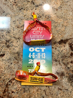 Austin City Limits (ACL) 2019 Weekend One Sunday General Admission Wristbands