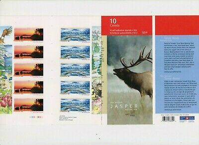 """Canada, 2007, """"Jasper National Parks - 52C"""" Booklet Of 10 Stamps Mint Nh Fresh"""