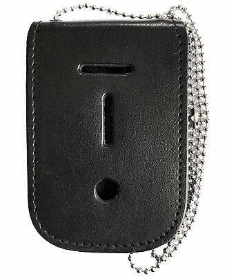 Neck Chain Badge Holder With ID Window And Hidden Inside Pouch