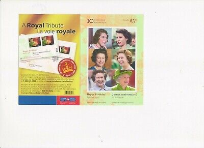 """Canada, 2006, """"Qeii 80  Birthday - 51C"""" Booklet Of 10 Stamps Mint Nh Fresh"""