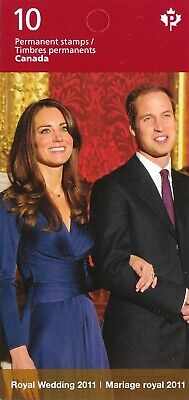 """Canada, 2011, """"Royal Wedding"""" Booklet Of 10 Permanent Stamps Mint Nh Fresh"""