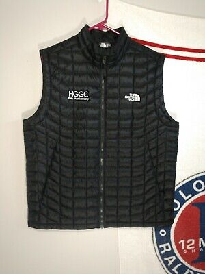The North Face Mens Jacket Black Size Large Vest Thermo-Ball
