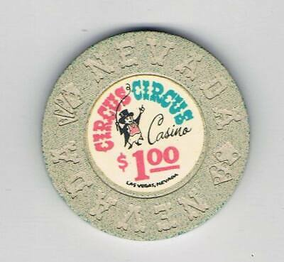 Circus Circus Las Vegas -  $1 Casino Chip - 1968 Nevada Mold - Book $50-$60