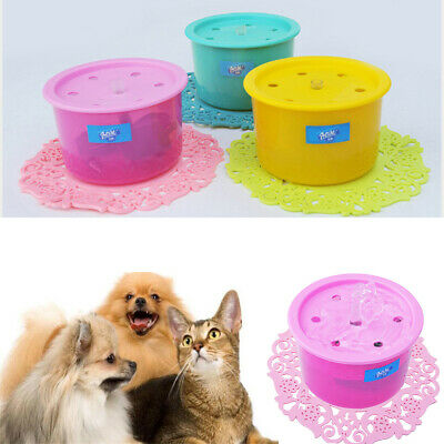 Automatic Pet Water Drinking Filter Fountain Bowl Dogs Cats Drinker Filter Hot