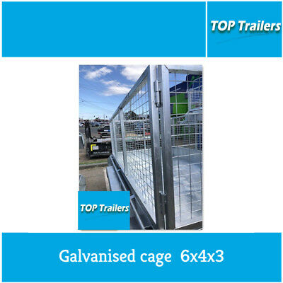 Hot dip Galvanised cage mesh 6x4x3 new box trailer cage 1830x1220x900 Heavy duty