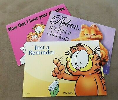 Garfield Postcards Dental Check Reminders Lot Of 3 Printed In The Us