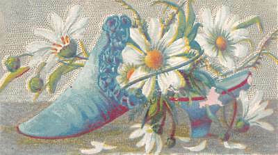 Victorian Trade Card Shoe Flowers No Advertising