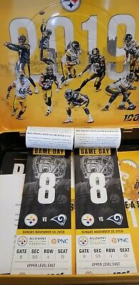 Pittsburgh Steelers VS Los Angeles Rams 2 Tickets Section 515 Row v