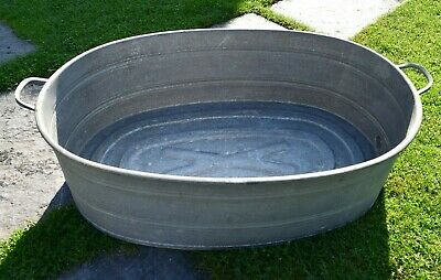 Old Washtub with Drain - Oval - Planter. (231-19)