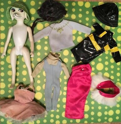 Hasbro Peteena Poodle 1966--Lot with assorted original clothes--HTF vintage doll