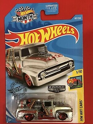 2019 Hot Wheels 56 FORD F-100 Queen of Hearts HW ART CARS ZAMAC - Car Of Month!