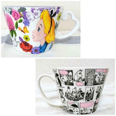 Moomin Valley Alice In Wonderland Mug Set Of 2 Limited Edition Series Coll #434