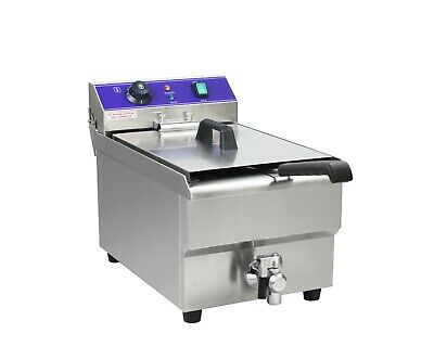 New 17L Commercial Counter Top Electric Deep Fryer+Basket+Free Face Marks Wty