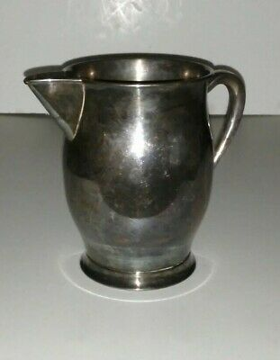 Antique Vintage FORBES SILVER Co Silverplate on Solid Copper Water Pitcher Jug