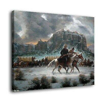 "Western cold winter Paintings HD Print on Canvas Home Decor Wall Art 16""x22"""