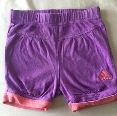 ADIDAS Baby Girl Pink Purple Sports Activewear Shorts Size 0