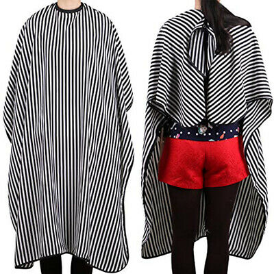 Lightweight Striped Pattern Hair Cutting Adjustable Neck Strap Hairdressers Gown