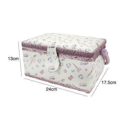 With Handle Sewing Box Cottton Blend Magnetic Buckle Large Capacity Storage Bag