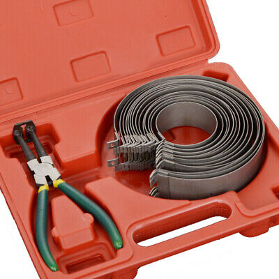 14 Band Piston Ring Compressor Cylinder Installer with Ratchet Pliers Tools Set