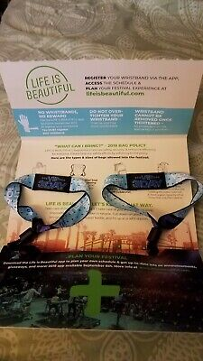 Life Is Beautiful Festival /Vegas 2/3 Day VIP Life is Beautiful Wristbands