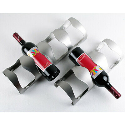 Suspension Bottle Holder Storage Wine Rack Stainless Steel Stand Wall Hanging